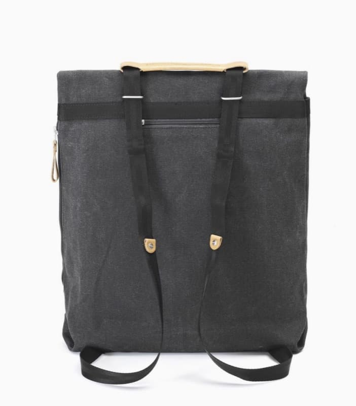 Qwstion Day Tote Backpack Slim shoulder straps look fashionable, also convert to tote handles for carry by hand.
