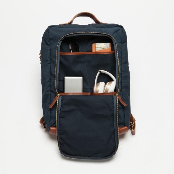 Breton Modern Day Briefcase Backpack Tons of internal organization.