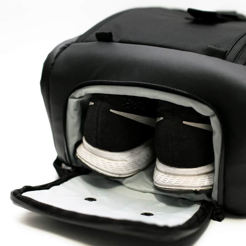 Dayfarer Backpack Dedicated shoe compartment keeps your gym stuff separate from your business papers.