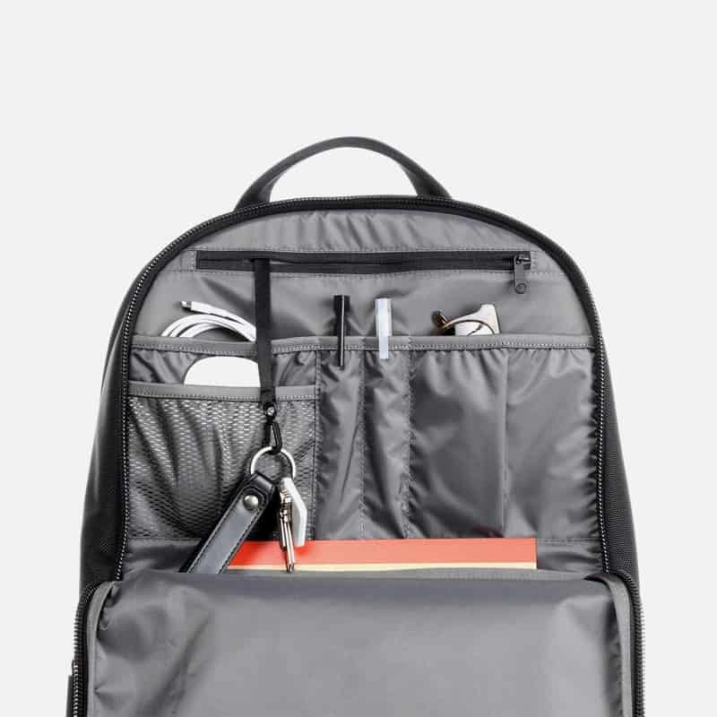 Aer Work Day Pack Great compartment segmentation and panel organization for daily essentials.