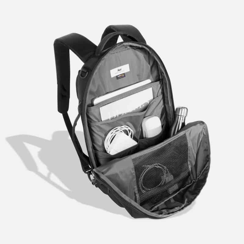Aer Flight Pack 2 Solid tech org for everyday. Boasts another external access pocket and a hidden passport pocket.