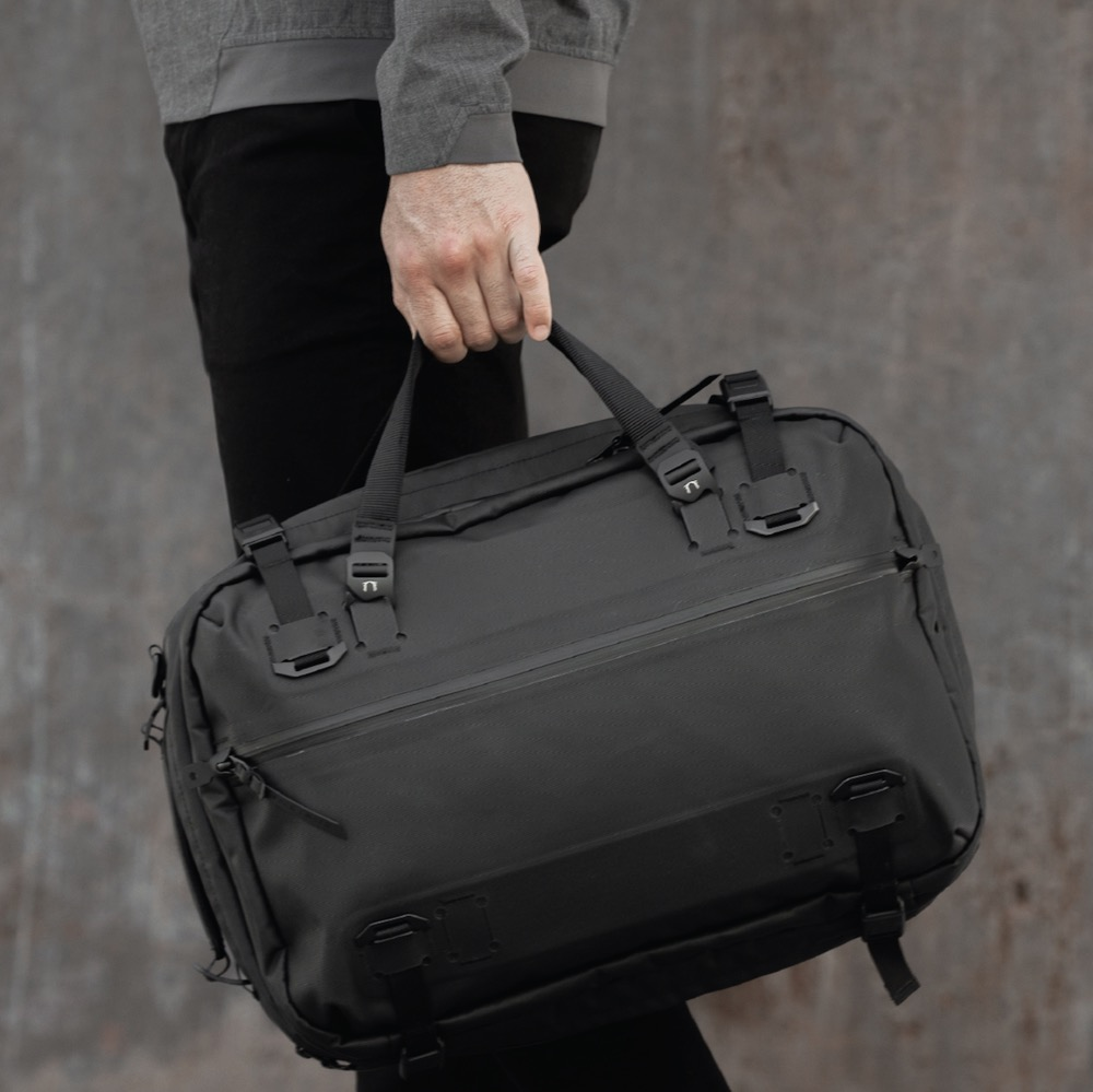 Black Ember Forge Converts between: backpack, briefcase, messenger.