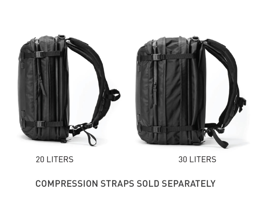 Expandable from 20-30L.  Expandable from 20-30L.