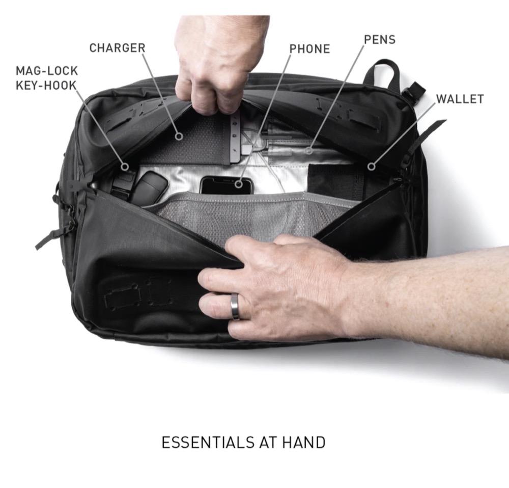 Easy-ish front access pocket. Easy-ish front access pocket.