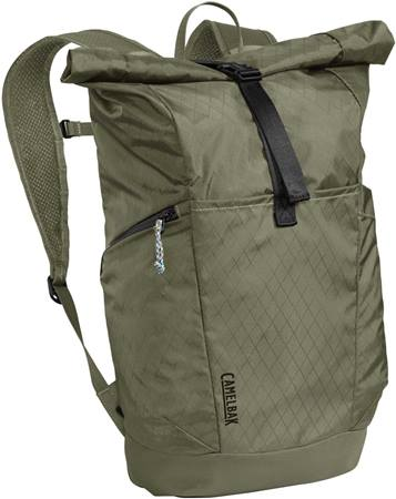 Camelbak Pivot Rolltop Backpack Very lightweight (12oz). Not a thick, burly bag.