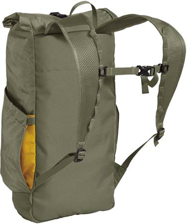 Camelbak Pivot Rolltop Backpack Nice minimal straps. Water bottle on one side. Zippered pocket on the other.