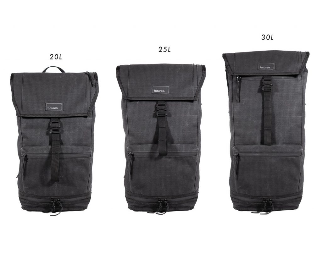 Futures Passport Backpack Expandable rolltop gets you some extra space.