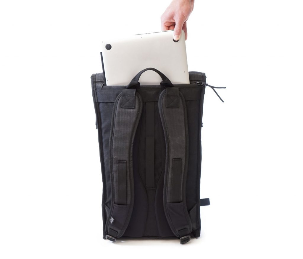 Futures Passport Backpack 1 Laptop pocket with water sealed zip.
