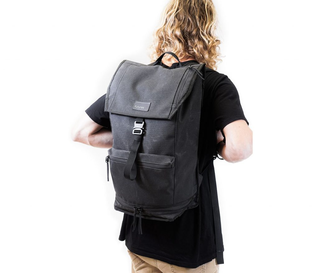 Futures Passport Backpack Understated looks for such a functional bag.