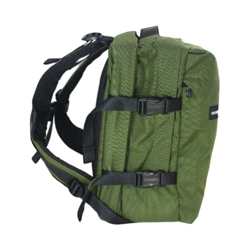 Greenroom136 Rainmaker Backpack Kind of a solid, standard, utilitarian aesthetic. Built really well with solid, classic materials.