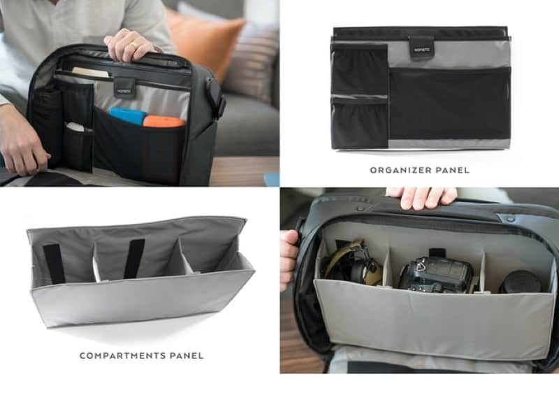 Nomatic Messenger Bag Removable inner panels means you'll customize the bag for how you carry.