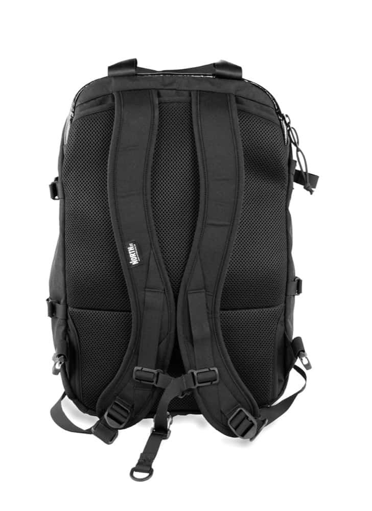 North St. Weekender Travel Backpack Stowable contoured straps. Top tote handle.