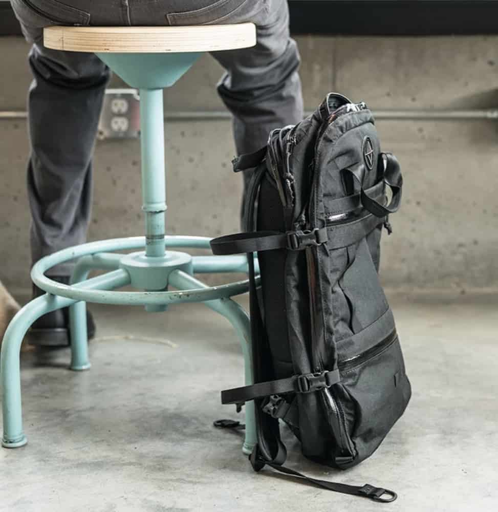 North St. Weekender Travel Backpack Compression straps for daily carry mode.