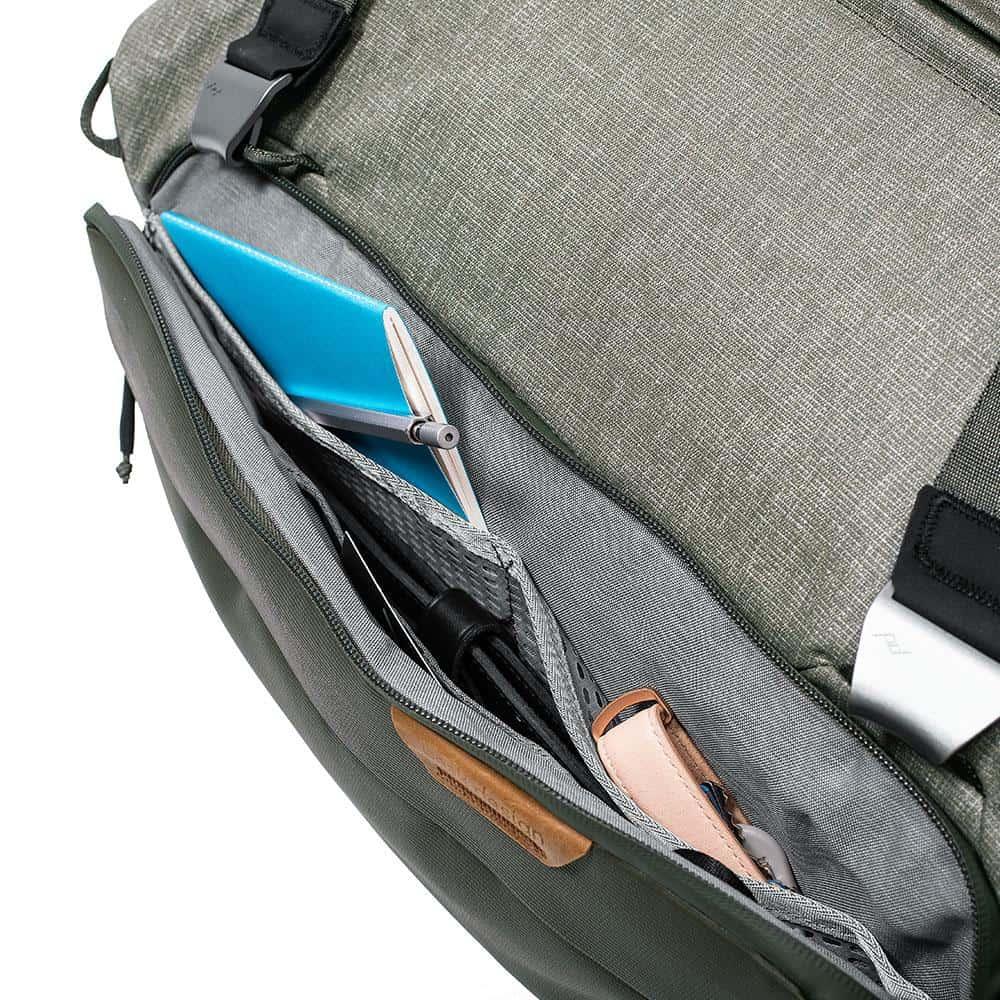 Peak Design 35L Travel Duffel Solid external organization.