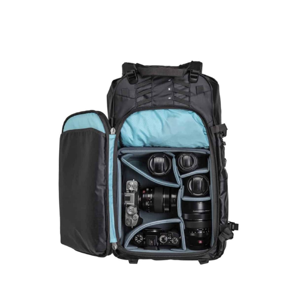 Shimoda X30 Adventure Camera Backpack Customizable camera cube setups.