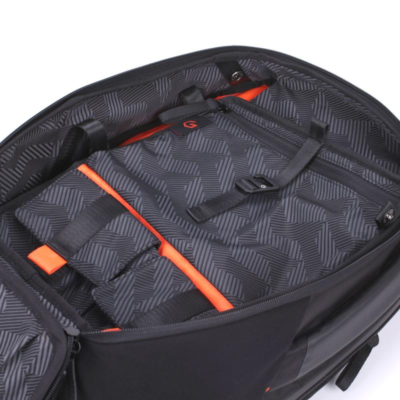 System G Carry+ Backpack Available in multiple sizes. About 20L capacity main compartment.