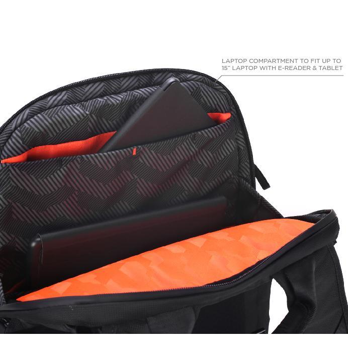 System G Carry+ Backpack Padded and protected laptop compartment.