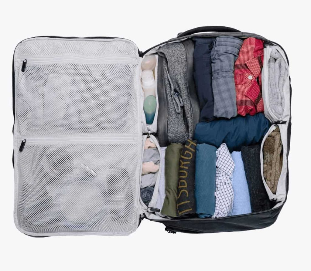 Lots of capacity for carry-on travel. Lots of organization too. Lots of capacity for carry-on travel. Lots of organization too.