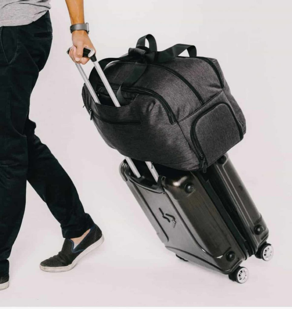 Tortuga Setout Duffel Luggage passthrough in case youreally need to bring a lot with you to the airport.