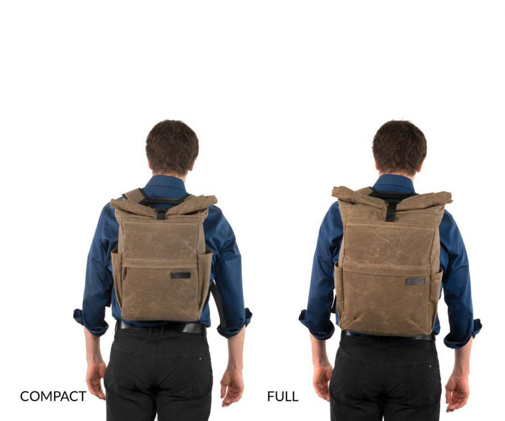 Waterfield Tech Rolltop Backpack Available in 2 sizes.