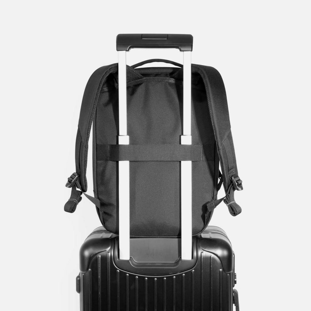 Simple, nice straps. Luggage passthrough.  Simple, nice straps. Luggage passthrough.